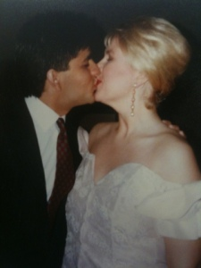 Kissing my wife, Andrea