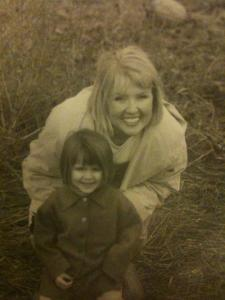 Andrea, my Beautiful Love, with Abbi as a little one