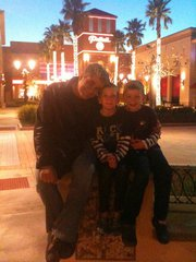 My boys and me . . . taken by Hannah before the movies one night.