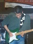 "Me with ""Dot"", my green Clapton Strat"