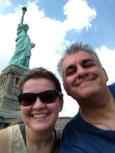 Abbi and I at the Statue of Liberty