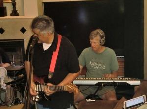 Rehearsing for fundraising gig