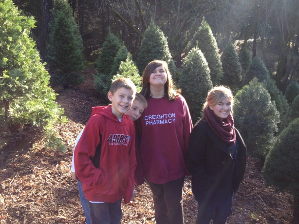 The kids...at the tree farm