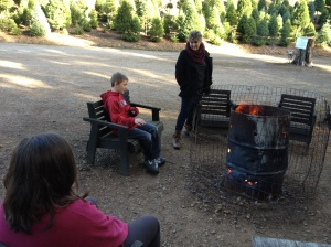 Waiting by the fire