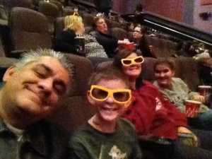 The kids, at the movies