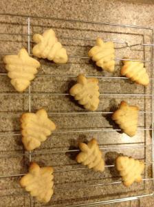 Spritz cookies - shaped like little Christmas trees!