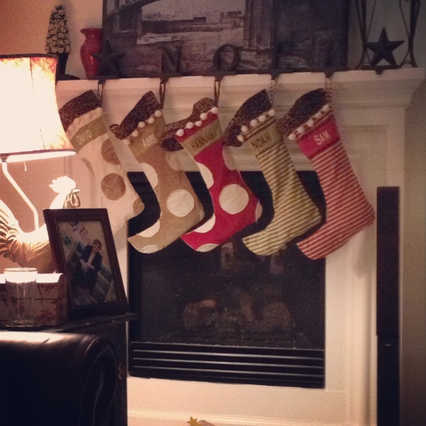 Our stockings - 5 of them