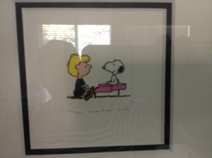 Schroeder & Snoopy.  From the Jones Gallery
