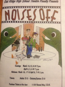 Noises Off.  Abbi's first play as an AD.
