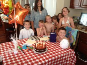 Noah, Sam, cousins and friends
