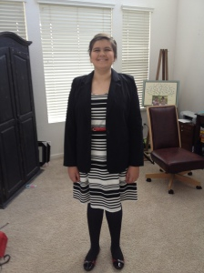 Hannah in a dress!