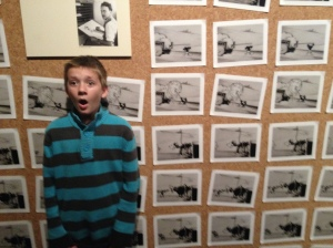 Noah at the Disney Museum