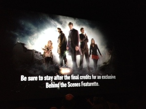 Slate on the Screen just before the movie